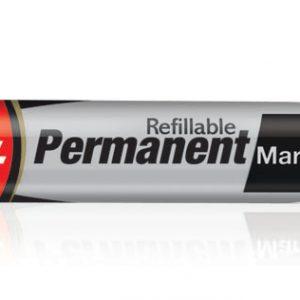 Luxor Refillable Permanent Marker Pen #1222 (Black)(Pack of 10)