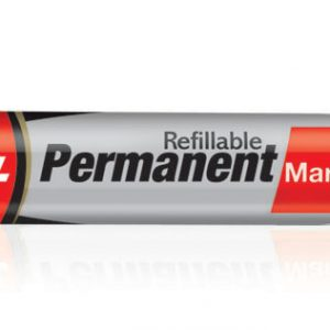 Luxor Refillable Permanent Marker Pen #1222(Red)(Pack of 10)