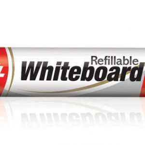 Luxor Refillable White Board Marker Pen #1223(Red)(Pack of 10)