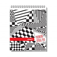 Top Bound Spiral 44 Single Ruled Notebook #20562