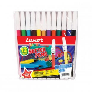 Luxor Assorted  Sketch Pen #976 (Pack of 12 Pcs)