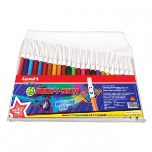 Luxor Asssorted Sketch Pens # 977B (pack of 24 Pcs)