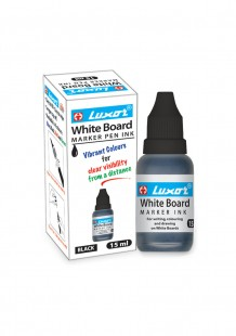 Luxor White Board Marker Ink Bottle #986(Black)(Pack of 10)