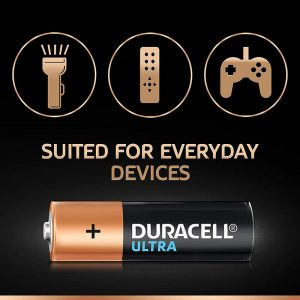 Duracell AA 6BL Ultra Alkaline AA Batteries Battery with Duralock Technology- Pack of 6 Pieces- SKU: 5005407 | Buy Bulk Online