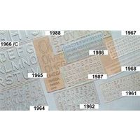 Omega Lettering Stencil Genius(25 MM)  #1964 (pack of 10)