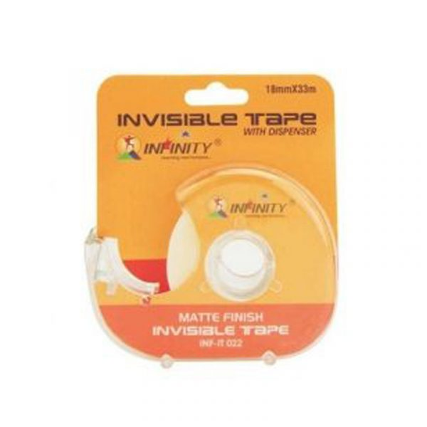 invisible transparent tape with dispenser inf-it022 infinity stationery authorized distributors wholesaler bulk order shop buy online supplier best lowest cheapest factory price dealers alappuzha ernakulam kochi cochin kottayam kerala india