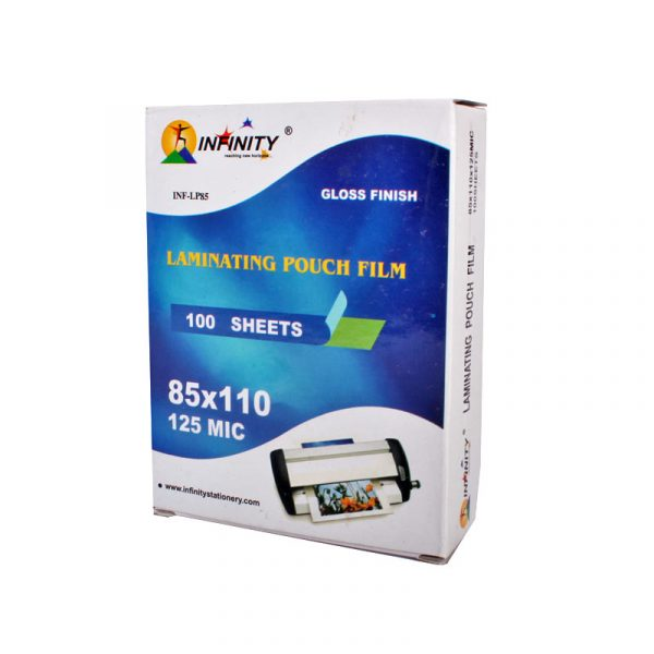 lamination pouch inf-lp225 125 micron size: a4 infinity stationery authorized distributors wholesaler bulk order shop buy online supplier best lowest cheapest factory price dealers alappuzha kochi cochin kerala india