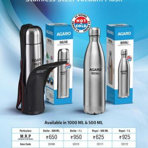 Agaro Stainless Steel Vacuum Flask