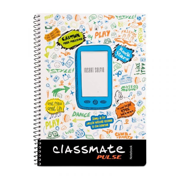 Classmate 1 Subject 297mm x 210mm Spiral Binding Selfie Notebook