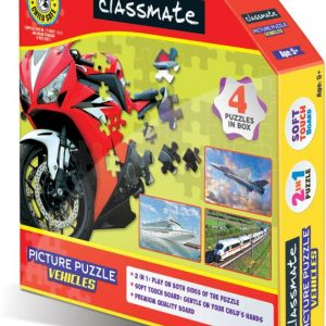 Classmate Picture Puzzle Vehicles – 4 Exciting 60-Piece Puzzles