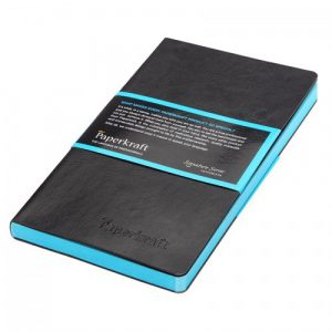 Paperkraft Signature Colour Series – Black Cover with Blue Pages, Unruled, 160 pages