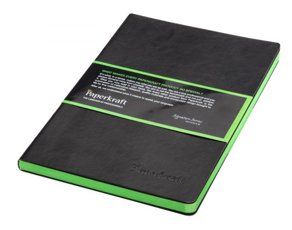 Paperkraft Signature Colour Series black cover green pages
