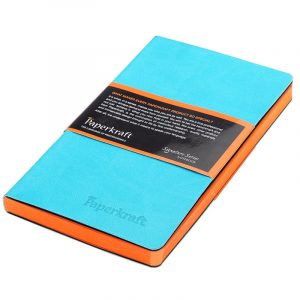 Paperkraft Signature Colour Series – Unruled, 160 pages, Blue Cover with Orange Pages