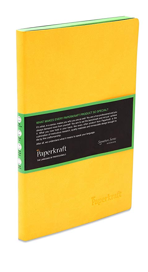 Paperkraft Signature Colour Series with Yellow Cover with Green Pages