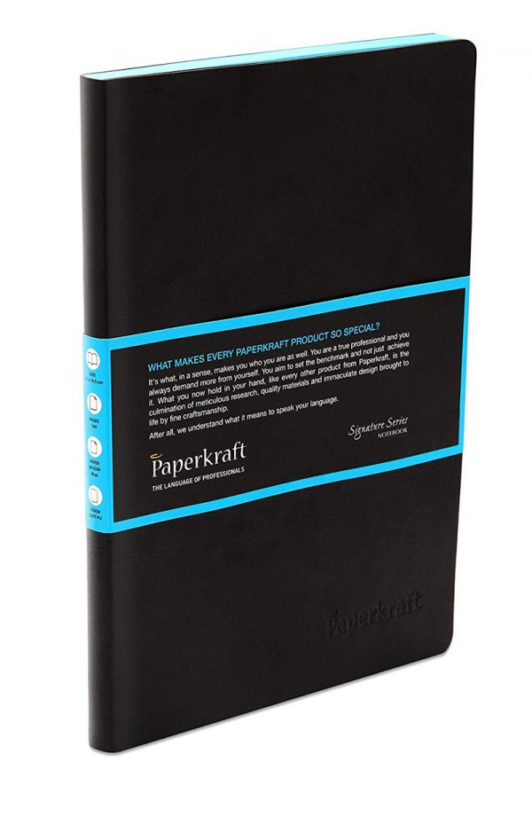 Paperkraft Signature Series Notebook- 60 blue pages