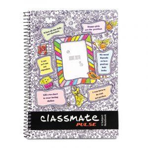Classmate 6 Subject (297 x 210) Spiral Binding Selfie Notebook, 300 Pages