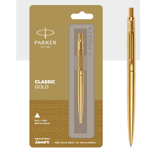 Parker Classic Gold Ball Pen With Gold Trim Authorized Distributor Wholesaler Retailer Bulk Order Buy Shop Online Supplier Dealers In Kerala South India