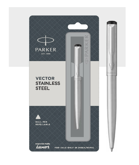 Parker Vector Stainless Steel Ball Pen Authorized Distributor Wholesaler Retailer Bulk Order Buy Shop Online Supplier Dealers In Kerala South India