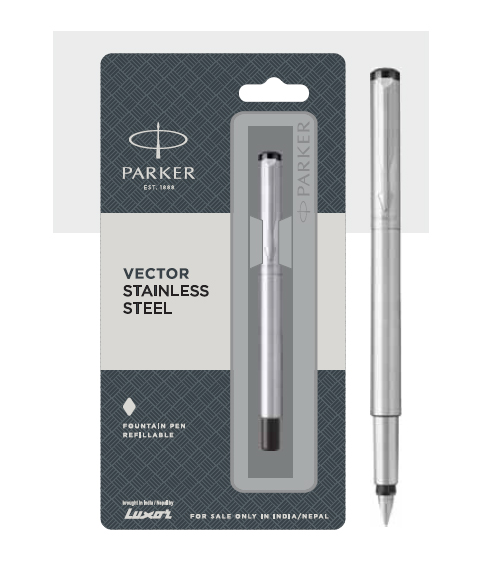 Parker Vector Stainless Steel Fountain Pen Authorized Wholesaler Retailer Bulk Order Buy Shop Online Supplier Dealers In Kerala South India