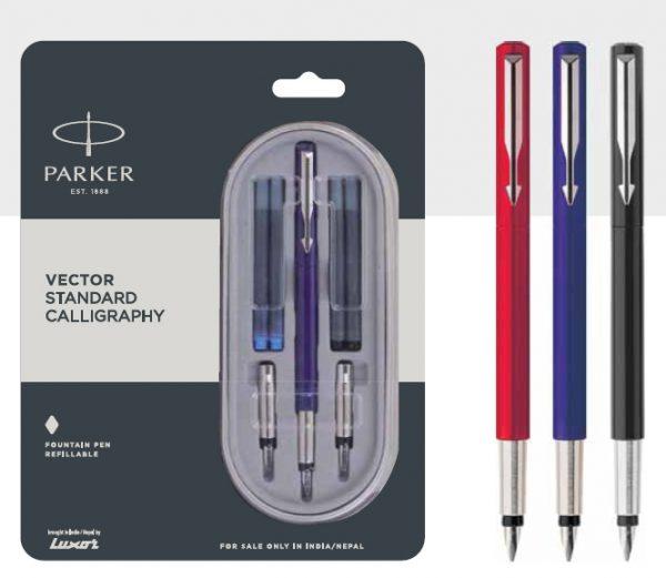 Parker Vector Standard Calligraphy Fountain Pen Authorized Distributor Wholesaler Retailer Bulk Order Buy Shop Online Supplier Dealers In Kerala South India