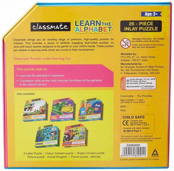 Classmate Itc Kids Learn The Alphabet Puzzle Age 3 Plus