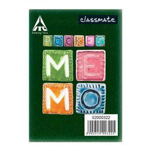 Classmate Pocket Memo (100 X 82) | 120 Pages | Single Line | Spine Taped | Soft Cover | SKU: 2001220 | Buy Bulk Online