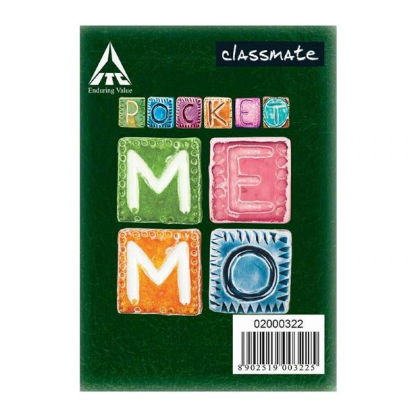 classmate pocket memo 100 x 82 120 pages single line spine taped soft cover sku 2001220 authorized distributors wholesaler bulk order shop buy online supplier best lowest price dealers in kerala south india stockist