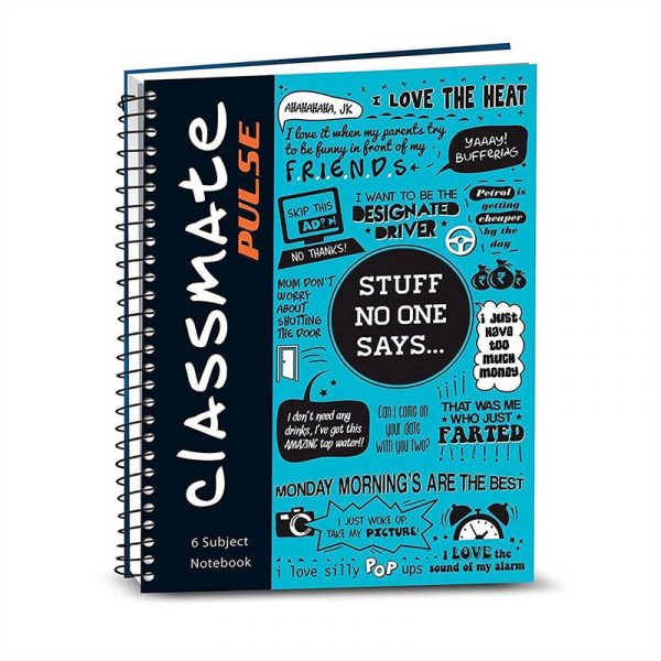 Classmate Pulse Notebook (297 X 210) | 180 Pages | Unruled |Soft Cover | SKU: 2100126 | MRP:95 | Buy Online!