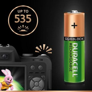 Duracell Recharge Ultra | AA4-2500 MAH | Green Rechargeable AA Batteries 2500 MAH with Duralock | Pack of 2 | SKU: 5000688 | Buy Bulk Online