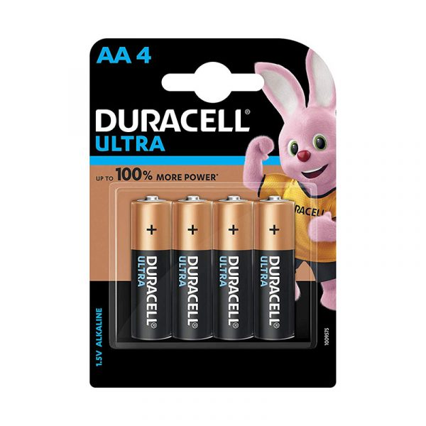 Duracell 5005403 AA 4BL Ultra Alkaline AA Batteries Battery with Duralock Technology Pack of 4 Pieces Authorized Distributors Wholesaler Renaissance Shop Buy Online Supplier Best Lowest Price Dealers In Kerala South India