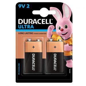 Duracell Ultra 9V Alkaline Battery with Duralock Technology | 9V 2BL | Pack of 2 | SKU: 5005410 | Buy Bulk Online