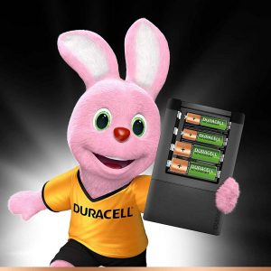 Duracell High Speed Value Charger with 2 AA (1300 mAh) and 2 AAA (750 mAh) Rechargeable Batteries (Green) | SKU: 5000547 | Buy Bulk Online
