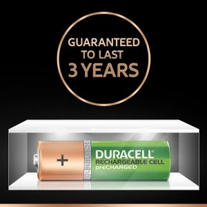 Duracell Recharge Plus | AA2-1300MAH | Green Rechargeable AA Batteries 1300 MAH with Duralock | Pack of 2 Pieces | SKU: 5000172 | Buy Bulk Online