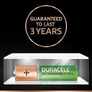 Duracell Recharge Plus | AAA4-750MAH | Green Rechargeable AAA Batteries 750 MAH with Duralock | Pack of 4 Pieces | SKU:5000168