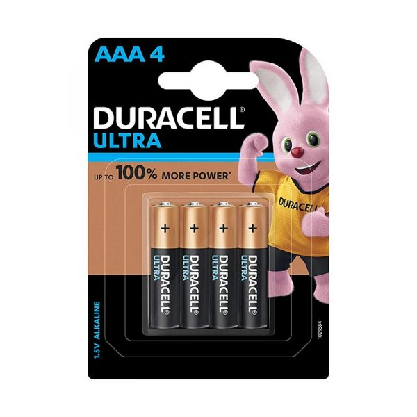 Duracell Ultra Alkaline AAA Batteries Battery with Duralock Technology Pack of 4 Pieces Authorized Distributors Wholesaler Exporter Shop Buy Online Supplier Best Lowest Price Dealers In Kerala South India
