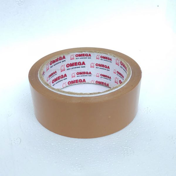 omega 36 mm 40 micron 60 m self-adhesive brown tape omega stationery authorized distributors wholesaler bulk order shop buy online supplier best lowest price dealers in kerala south india stockist