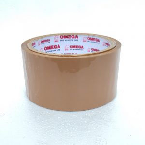 72 MM/ 60 M/ 40 Micron Self Adhesive Brown Tape | Omega Stationery | Buy Bulk Online