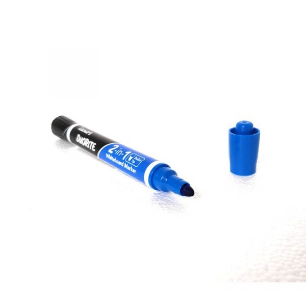 luxor duorite 2 in 1 white board marker pen black blue color easy wipe bullet tip buy online authorized distributors wholesaler bulk order shop buy online supplier best lowest price dealers in kerala south india stockist