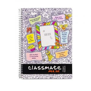 Classmate Pulse 6 Subject (240 x 180) | 300 Pages | Single Line | Soft Cover | Buy Bulk At Wholesale Price Online